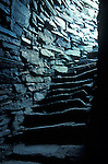Dun Carloway Broach interior stone staircase. Isle of Lewis Outer Hebrides Scotland. Mysterious Britain published by Orion. A FORTIFIED HOMESTEAD BUILT LAST CENTURY BC