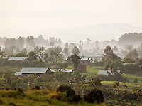 A small village in Parc National Des Volcans, Rwanda