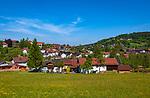 Deutschland, Bayern, Niederbayern, Naturpark Bayerischer Wald, Bodenmais: Hoehenluftkurort ind Wintersportort am Fuss des Arber   Germany, Bavaria, Lower-Bavaria, Nature Park Bavarian Forest, Bodenmais: popular holiday resort