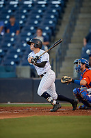 Tampa Tarpons Matt Pita (6) at bat during a Florida State League game against the St. Lucie Mets on April 10, 2019 at George M. Steinbrenner Field in Tampa, Florida.  St. Lucie defeated Tampa 4-3.  (Mike Janes/Four Seam Images)