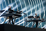 © Joel Goodman - 07973 332324 . 06/06/2015. Manchester , UK . DISCLOSURE perform on the Main Stage at the close of the first night of Parklife 2015 music festival in Heaton Park , Manchester . Photo credit : Joel Goodman