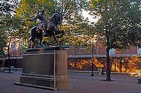 Statue of Paul Revere Paul Revere Square Boston Massachusetts