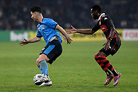 1st May 2021; Bankwest Stadium, Parramatta, New South Wales, Australia; A League Football, Western Sydney Wanderers versus Sydney FC; Alexander Baumjohann of Sydney attempts to turn past Bruce Kamau of Western Sydney Wanderers
