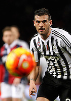 Calcio, Serie A:  Bologna vs Juventus. Bologna, stadio Renato Dall'Ara, 19 febbraio 2016. <br /> Juventus' Stefano Sturaro eyes the ball during the Italian Serie A football match between Bologna and Juventus at Bologna's Renato Dall'Ara stadium, 19 February 2016.<br /> UPDATE IMAGES PRESS/Isabella Bonotto