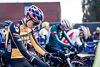 Wout van Aert (BEL/Jumbo-Visma) at the start of the 2021 GP Sven Nys in Baal, Belgium on New Years Day 2021