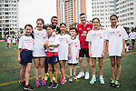 Kids attend the HSBC Rugby Festival powered by Serevi ahead the Cathay Pacific / HSBC Hong Kong Sevens at the HSBC Sevens Village on 26 March 2015 in Hong Kong, China. Photo by Moses Ng  / Power Sport Images