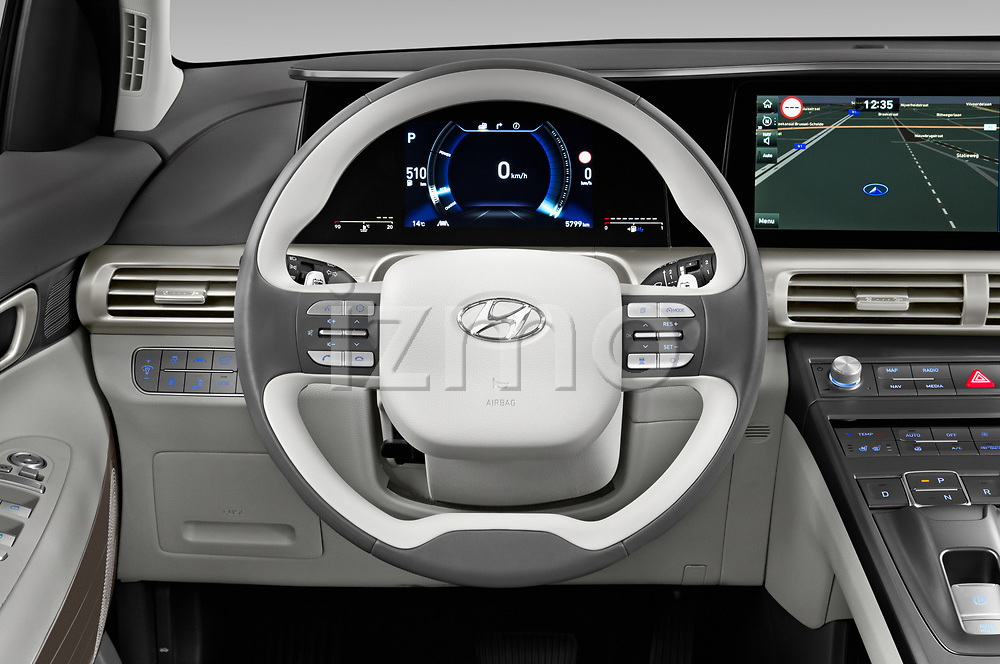 Car pictures of steering wheel view of a 2019 Hyundai Nexo Limited 5 Door SUV Steering Wheel