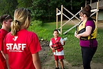 Watertown, CT- 19 August 2015-081915CM03- Caleb Richardson, 6, and his mom, Rhea Richardson of Waterbury prepare to go out on a canoe ride during family night at Camp Mataucha in Watertown on Wednesday, August 20th. 2015.  Christopher Massa Republican-American