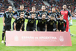Argentina during friendly match between Spain and Argentina at Wanda Metropolitano in Madrid , Spain. March 27, 2018. (ALTERPHOTOS/Borja B.Hojas)