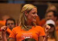 13-sept.-2013,Netherlands, Groningen,  Martini Plaza, Tennis, DavisCup Netherlands-Austria, Second rubber, Dutch supporter <br /> Photo: Henk Koster