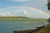 Pará State, Brazil. Xingu River. Rainbow.