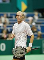 20-2-06, Netherlands, tennis, Rotterdam, ABNAMROWTT, Davydenko  celebrates his victiry over Hernych