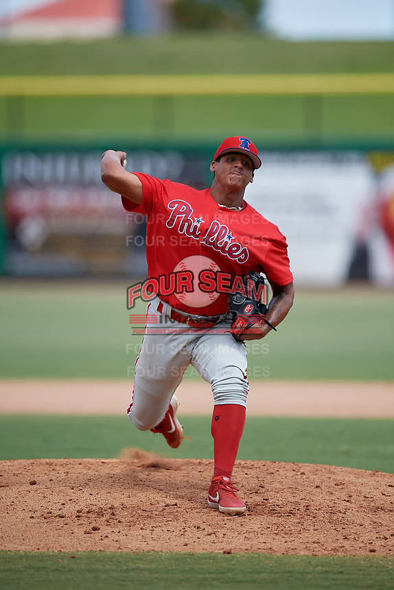 Philadelphia Phillies pitcher César Hernández (80) during an Instructional League game against the Toronto Blue Jays on September 23, 2019 at Spectrum Field in Clearwater, Florida.  (Mike Janes/Four Seam Images)