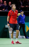 Februari 11, 2015, Netherlands, Rotterdam, Ahoy, ABN AMRO World Tennis Tournament, Andy Murray (GBR) - Nicolas Mahut (FRA)<br /> Photo: Tennisimages/Henk Koster