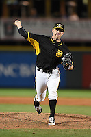Bradenton Marauders pitcher Robby Rowland (12) delivers a pitch during a game against the Palm Beach Cardinals on April 9, 2014 at McKechnie Field in Bradenton, Florida.  Palm Beach defeated Bradenton 3-1.  (Mike Janes/Four Seam Images)