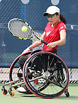 Toronto, Ontario, August 10, 2015. Yuka Chokyu competes in the womens wheelchair tennis during the 2015 Parapan Am Games . Photo Scott Grant/Canadian Paralympic Committee