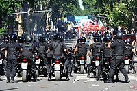 severe clashes   near the Congress building while Deputies Chamber was   discussing changes in   retirement legislation