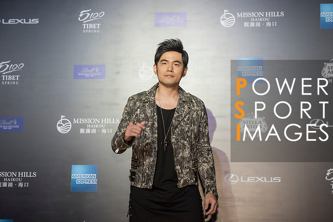 Singer Jay Chou on the Red Carpet event at the World Celebrity Pro-Am 2016 Mission Hills China Golf Tournament on 20 October 2016, in Haikou, China. Photo by Weixiang Lim / Power Sport Images