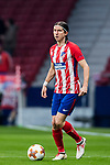 Filipe Luis of Atletico de Madrid looks on during the UEFA Europa League 2017-18 Round of 16 (1st leg) match between Atletico de Madrid and FC Lokomotiv Moscow at Wanda Metropolitano  on March 08 2018 in Madrid, Spain. Photo by Diego Souto / Power Sport Images
