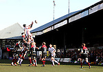 Ulster lock Dan Tuohy wins the line out ball.<br /> Guinness Pro12<br /> Gwent Dragons v Ulster<br /> 08.03.15<br /> ©Steve Pope - SPORTINGWALES