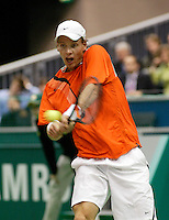 20-2-06, Netherlands, tennis, Rotterdam, ABNAMROWTT, 20-2-06, Netherlands, tennis, Rotterdam, ABNAMROWTT, Berdych in action against Dent