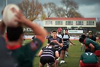 Action from the 2021 senior representative preseason rugby match between Wairarapa Bush and Hawkes Bay Saracens at Memorial Park in Masterton, New Zealand on Sunday, 7 June 2021. Photo: Dave Lintott / lintottphoto.co.nz