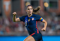 HOUSTON, TX - JUNE 13: Alex Morgan #13 of the USWNT sprints during a game between Jamaica and USWNT at BBVA Stadium on June 13, 2021 in Houston, Texas.