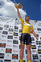 Tour leader Chris Lawless (JLT Condor). UCI Oceania Tour - NZ Cycling Classic stage one - Masterton to Gladstone circuit in Wairarapa, New Zealand on Wednesday, 20 January 2016. Photo: Dave Lintott / lintottphoto.co.nz