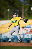 Siena Saints relief pitcher Danny Hobbs (33) during a game against the Pittsburgh Panthers on February 24, 2017 at Historic Dodgertown in Vero Beach, Florida.  Pittsburgh defeated Siena 8-2.  (Mike Janes/Four Seam Images)