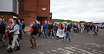 Hundreds of Rangers fans protest against the board at Ibrox Stadium this afternoon