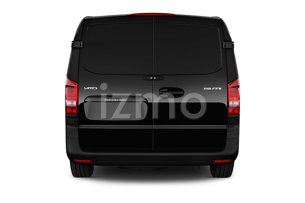 Straight rear view of a 2018 Mercedes Benz Vito Mixto Perfect Tool 4 Door Combi stock images