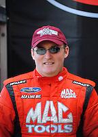 Nov. 2, 2008; Las Vegas, NV, USA: NHRA top fuel dragster driver Doug Kalitta during the Las Vegas Nationals at The Strip in Las Vegas. Mandatory Credit: Mark J. Rebilas-