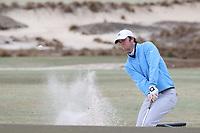 PINEHURST, NC - MARCH 02: Ryan Burnett of the University of North Carolina chips out of a sand trap on the 17th hole at Pinehurst No. 2 on March 02, 2021 in Pinehurst, North Carolina.