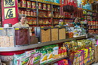 Bangkok, Thailand.  Chinatown Food Vendor's Store.