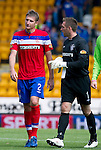 St Johnstone v Rangers... 30.07.11   SPL Week 2.Dorin Goian and Allan McGregor at full time.Picture by Graeme Hart..Copyright Perthshire Picture Agency.Tel: 01738 623350  Mobile: 07990 594431