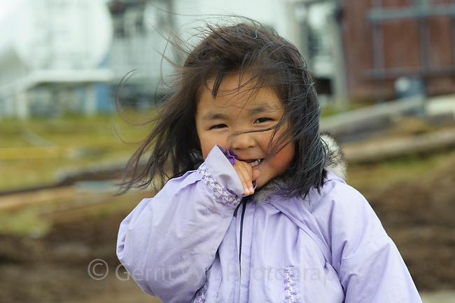 Yupik girl. Chefornak, Alaska.