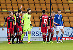 St Johnstone v St Mirren…16.01.21   McDiarmid Park     SPFL<br />Referee Steven McLean sends off Cammy MacPherson<br />Picture by Graeme Hart.<br />Copyright Perthshire Picture Agency<br />Tel: 01738 623350  Mobile: 07990 594431