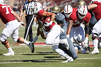Stanford, CA - September 15, 2018: Cameron Scarlett during the Stanford vs UC Davis football game Saturday at Stanford Stadium.<br /> <br /> The Cardinal scored 30. UC Davis 10.