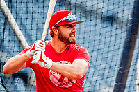 21 September 2018: Washington Nationals infielder Mark Reynolds takes batting practice prior to a game against the New York Mets at Nationals Park in Washington, DC. The Mets defeated the Nationals 4-2 in the second game of their 4-game series. Mandatory Credit: Ed Wolfstein Photo *** RAW (NEF) Image File Available ***