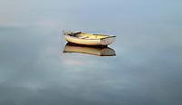 Solitary rowboat, Hamptons, New York