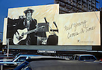 Neil Young billboard on Sunset Strip circa 1978