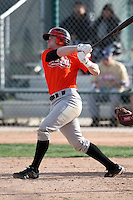 January 17, 2010:  Kyle Simon (Cooper City, FL) of the Baseball Factory Florida Team during the 2010 Under Armour Pre-Season All-America Tournament at Kino Sports Complex in Tucson, AZ.  Photo By Mike Janes/Four Seam Images