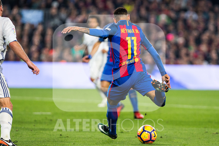 FC Barcelona's Neymar Santos Jr during spanish La Liga match between Futbol Club Barcelona and Real Madrid  at Camp Nou Stadium in Barcelona , Spain. Decembe r03, 2016. (ALTERPHOTOS/Rodrigo Jimenez)