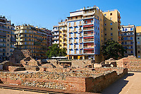 Roman remains in the centre of Thessaloniki, Greece