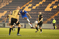Harry Pell, Colchester United fires an attempt at goal during Colchester United vs Marine, Emirates FA Cup Football at the JobServe Community Stadium on 7th November 2020