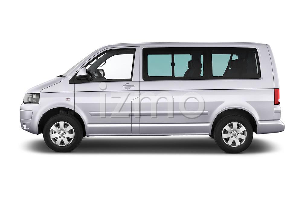Car Driver side profile view of a 2014 Volkswagen CARAVELLE COMFORTLINE 4 Door Passenger Van Side View