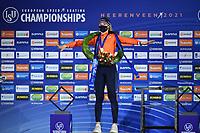 SPEEDSKATING: HEERENVEEN: 17-01-2021, IJsstadion Thialf,  ISU European Championships, Jutta Leerdam, ©photo Martin de Jong SPEEDSKATING: HEERENVEEN: 17-01-2021, IJsstadion Thialf, ISU European Speed Skating Championships, ©photo Martin de Jong