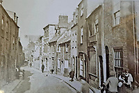 BNPS.co.uk (01202 558833)<br /> Pic: MarkVine/DigTheStreet/BNPS<br /> <br /> Pictured: How the dig site used to look in the late 1800's<br /> <br /> An archaeological dig is underway at the site of a bloody Civil War battle in a bid to uncover artefacts hidden for 376 years.<br /> <br /> Four exploratory trenches have been dug as part of the excavation of the former medieval high street in Weymouth, Dorset.<br /> <br /> The seaside town witnessed the Battle of Weymouth in February 1645 where Parliamentarians outnumbered by six to one saw off a Royalist plot to seize it.<br /> <br /> Five hundred people were killed during the fighting and had the Royalists won, Charles I would have secured the safe south coast port he needed to land 35,000 French troops - potentially altering the course of history.
