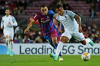 20th September 2021; Nou Camp, Barcelona, Spain; La Liga football league;  FC Barcelona versus Granada;   Machis breaks outside challenged by Dest of Barca