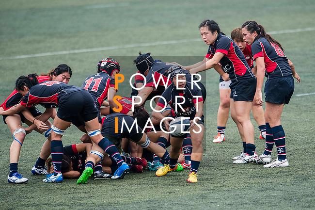 Mak Ho Yee of Lions (C) in action during the Women's National Super Series 2017 on 13 May 2017, in Hong Kong Football Club, Hong Kong, China. Photo by Marcio Rodrigo Machado / Power Sport Images